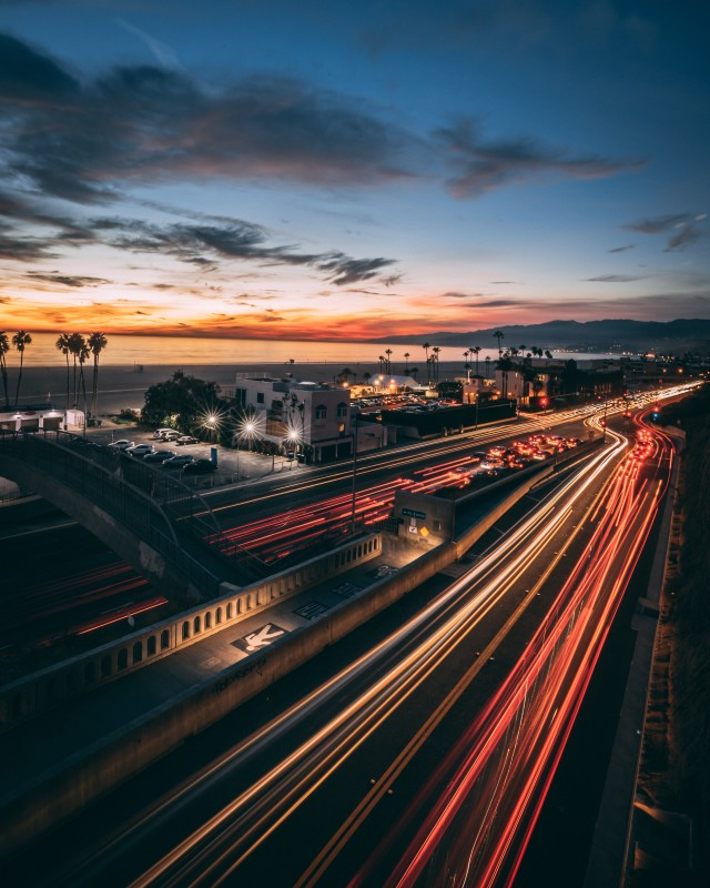 Long exposure of PCH in Santa Monica.