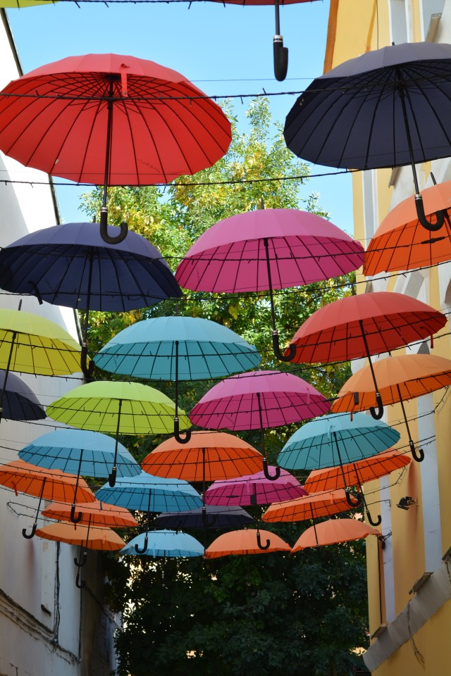 Free authentic colorful umbrellas photo on Reshot