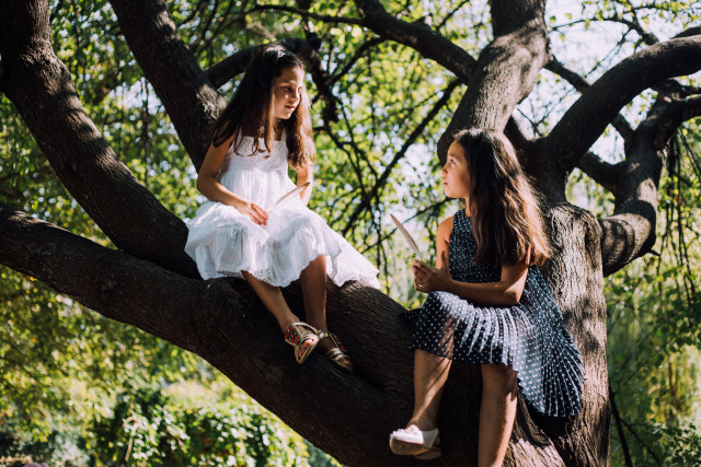 Girls on the tree
