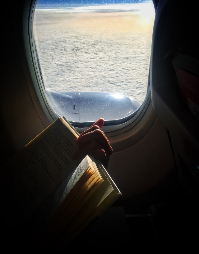 Reading in the air, vacation, airline, tourist, air, holiday, rest, relax, airplane, window, travel, sitting, fly, aircraft, reading, transport, transportation, arrival, woman, trip, female, international, aviation, traveler, reader, plane, journey, person, passenger, lifestyles-nominated