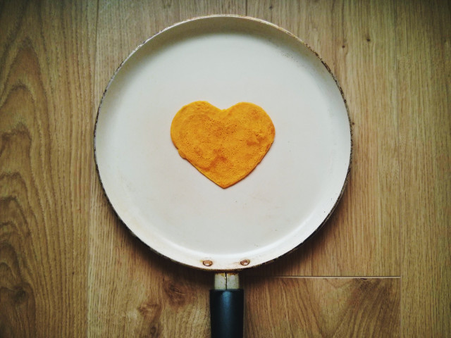 Heart on the pan