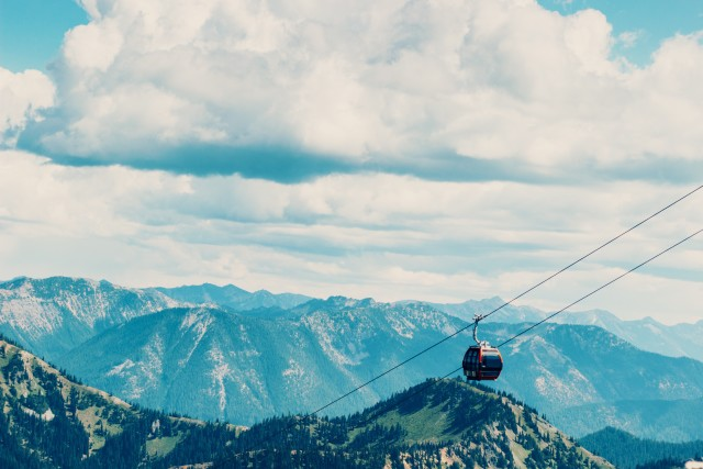 Gondola in the mountains