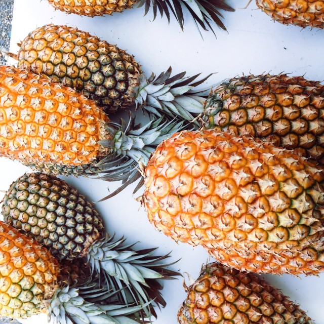 Pineapples in Trinidad