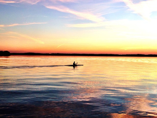 Out with my kayak