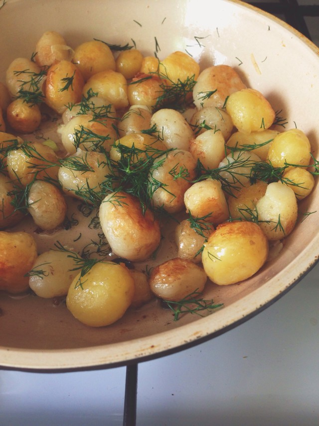 fried round potatoes prapanna dill