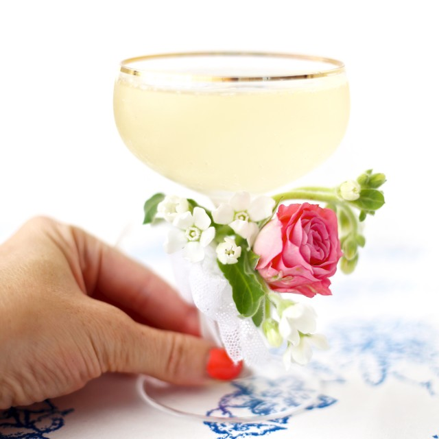Cocktail with a corsage
