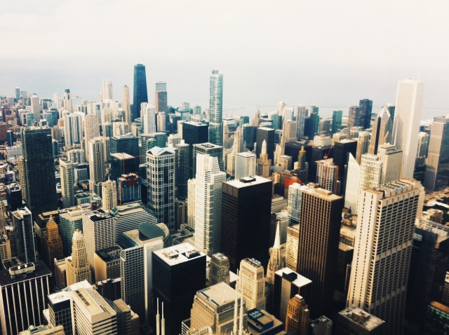 Above Chicago in the Willis Tower
