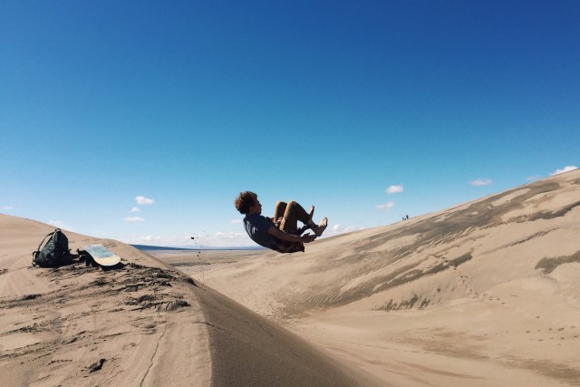 Go explore.   Great Sand Dunes National Park, CO  Spring break 2015