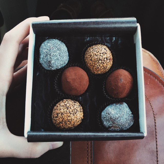 Chocolate truffles from Harbor Candy Shop in Ogunquit, Maine.