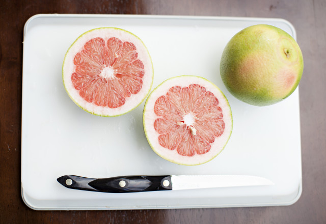 Fresh grapefruit.