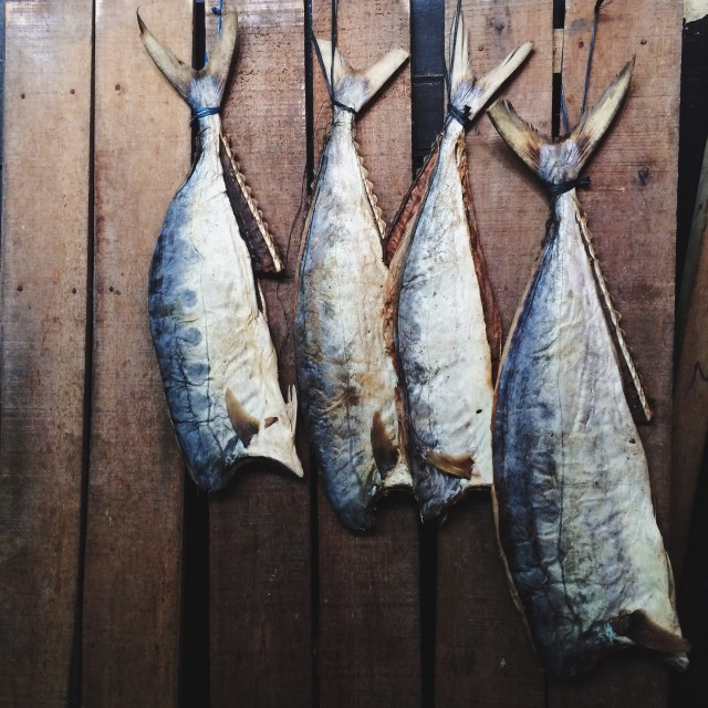Salted fish.
