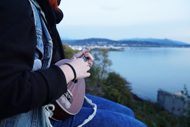 Ukulele with a view