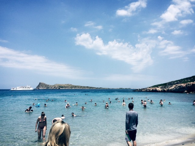 The beach in Crete