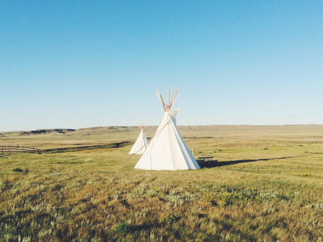 Tipi at Grasslands National Park