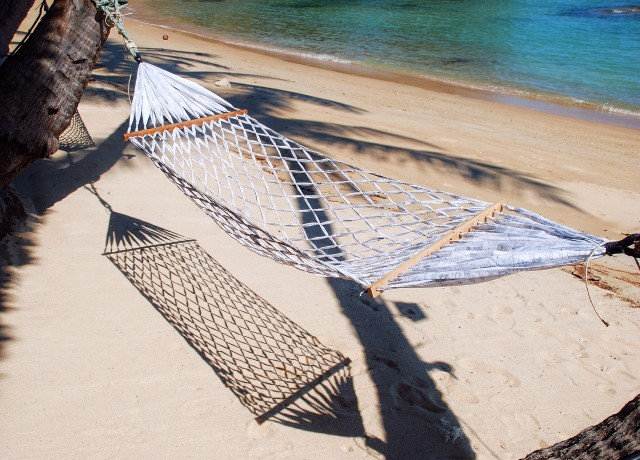 The best way to relax on a tropical beach...