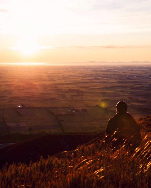 Overlooking the pacific and the Canterbury plains of New Zealand.