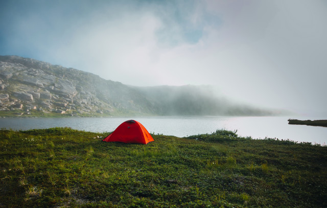 Tent near the lake