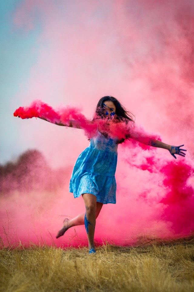 Dancing with colors.