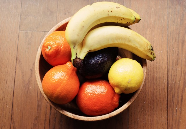 Fruit bowl overhead