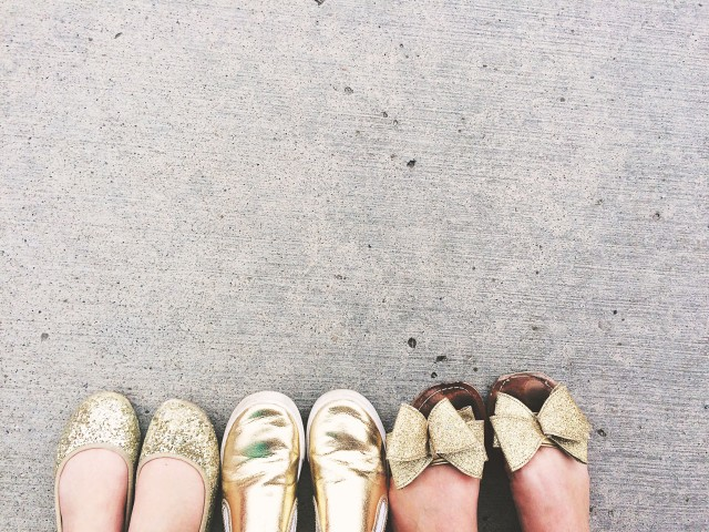 Gold shoe girls