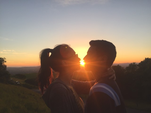 Golden Hour Kiss