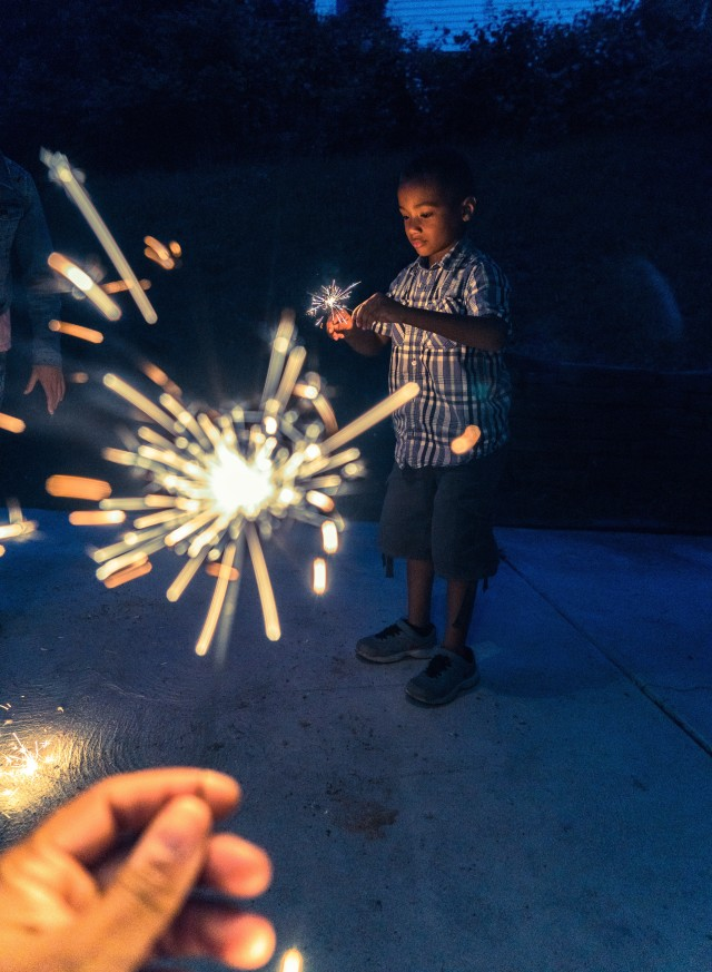Sparkler kind of night