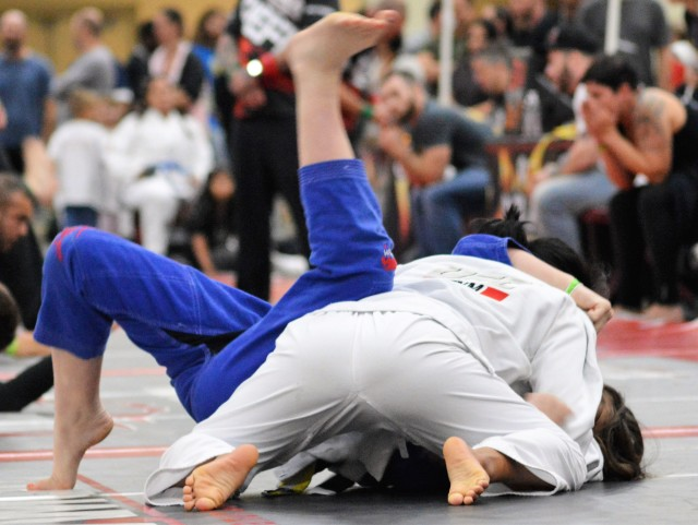 Women's division MMA lightweights. Close-up Sports in Action