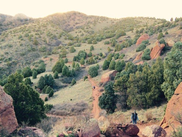 Into the wild : red rocks trail colorado