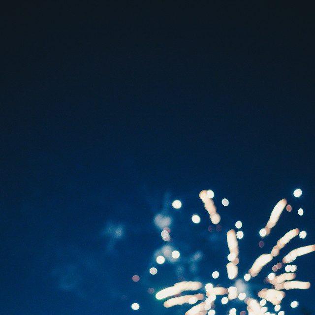 A firework explodes on 4th of July.