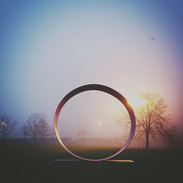 Giant ring in park