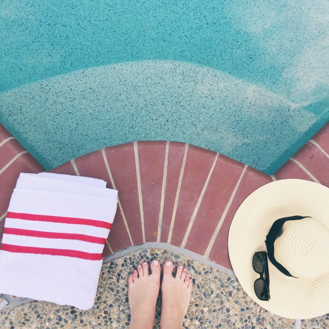 Free authentic poolside photo on Reshot