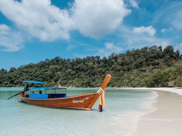wood boat in Thailand