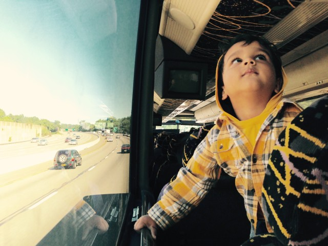 Traveler kid traveling places and learning life