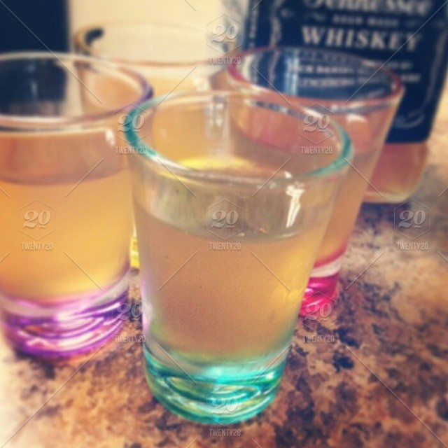 pink yellow colorful purple drink alcohol jack four friends