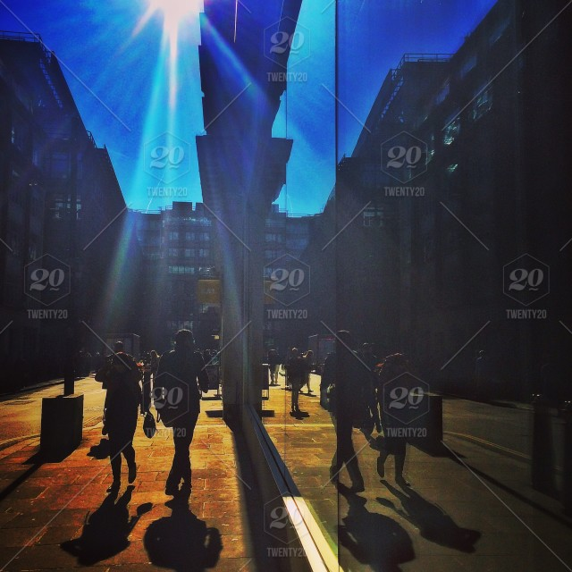 Spring Silhouettes And Shadows >> Morning Rush Hour In The City London Stock Photo Dfe8e1f3 C1ea