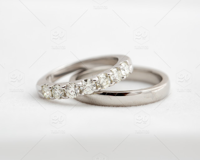 White Background Rings Marriage Jewelery Wedding Rings