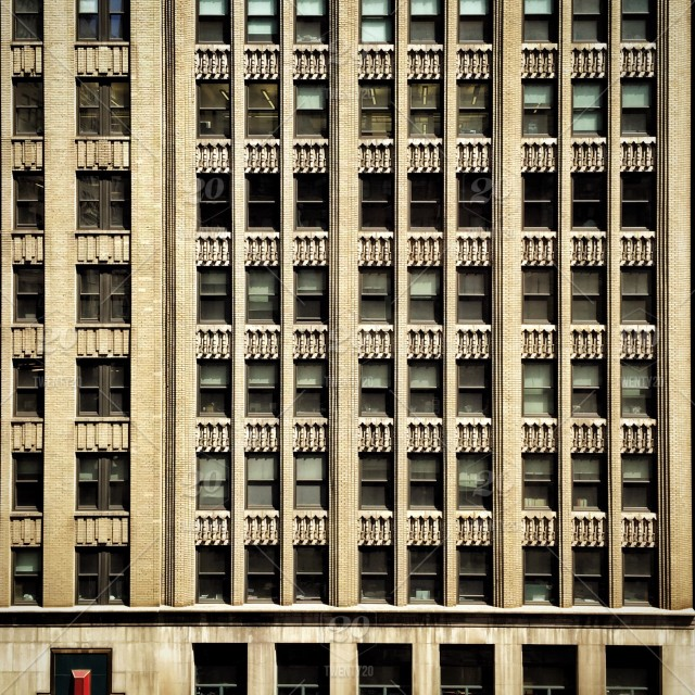 Building-exterior, grid, windows, nyc, nycprimeshot stock