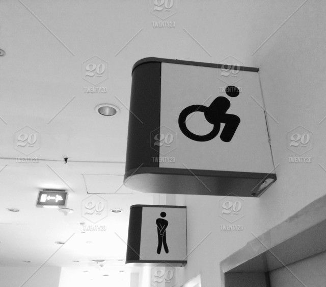 Funny Bathroom Signs Stock Photo 606f59a6 997c 4741 A052