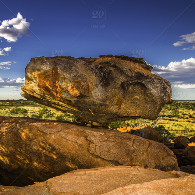 Balance Rock Eroded Away Millions Of Years Ago When The Ocean Once Covered This Ancient Land Stock Photo Cc66f20e D4d1 4087 A54f 7b58b83a278c