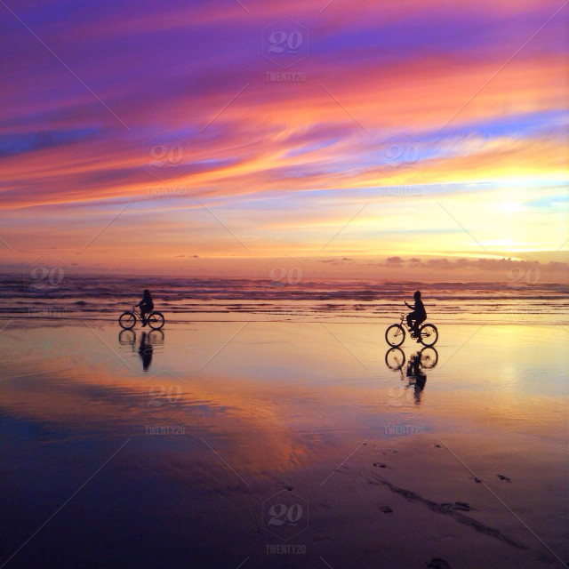 Stock Photo Water Sky Dusk Reflection Sea Sunset Beach