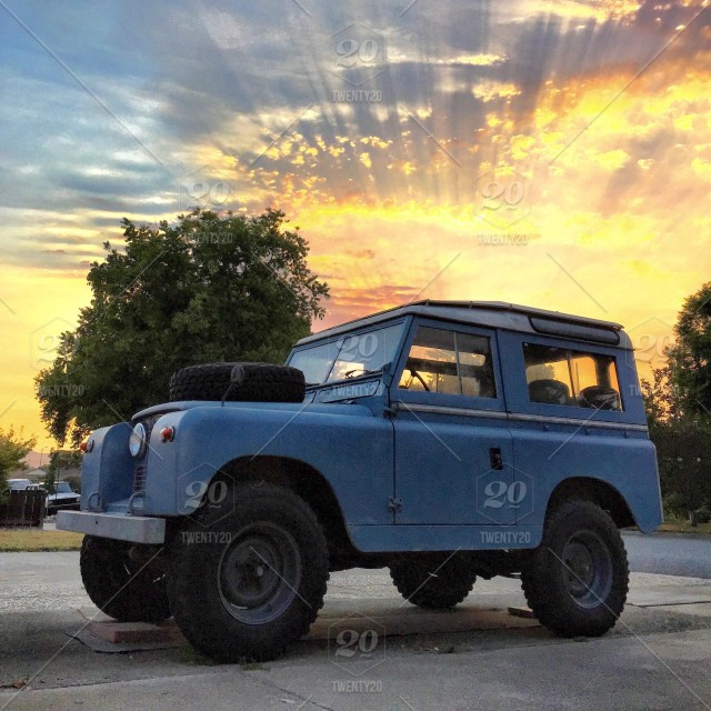 1961 Land Rover Series Ii With Brilliant Sun Rays Shot In San Jose Ca Stock Photo 646ae825 2217 412b A5e1 7cc734eeb25b