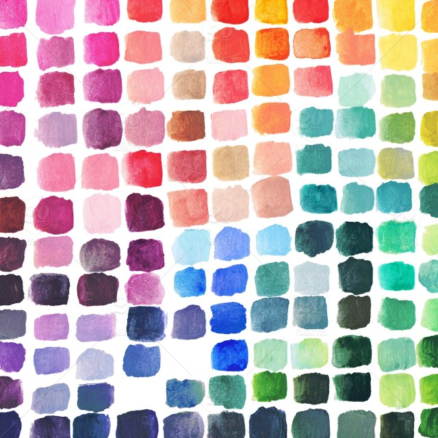 Diy Rainbow Color Theory Mixing Chart Made By Watercolor Artist