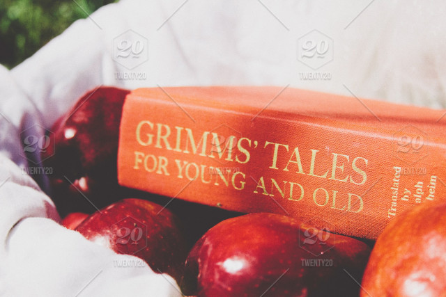 stock photo, red, foot, apples, snow-white, fairy-tales, grimms