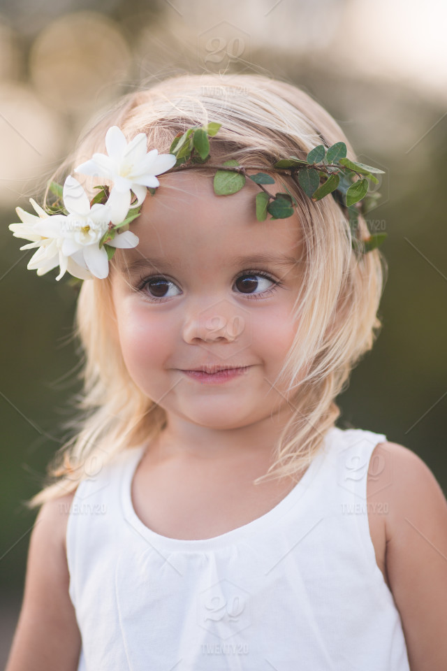 Remarkable, young little girl flower message, matchless)))