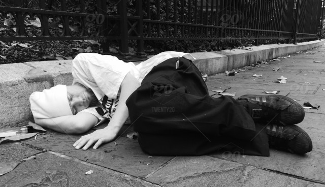 stock photo, street, poverty, urban, sleep, homeless, neworleans