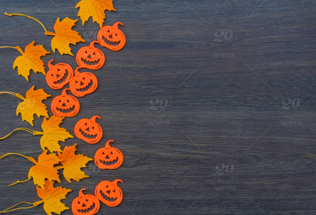 Autumn Leaves Halloween Background Stock Photo 8e8105a6