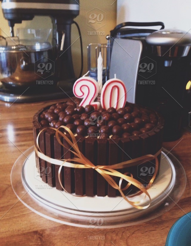 20th Birthday Cake My Mom Made For Me Stock Photo Bb5f7849 868d