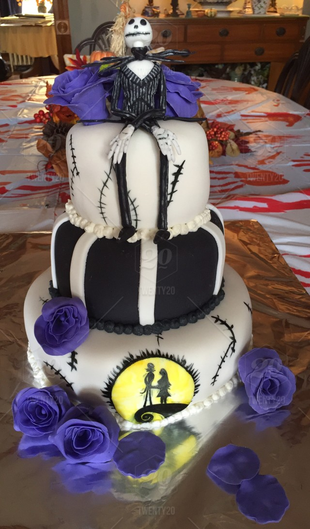 Jack Skelligton Cake Theme From The Movie Nightmare Before