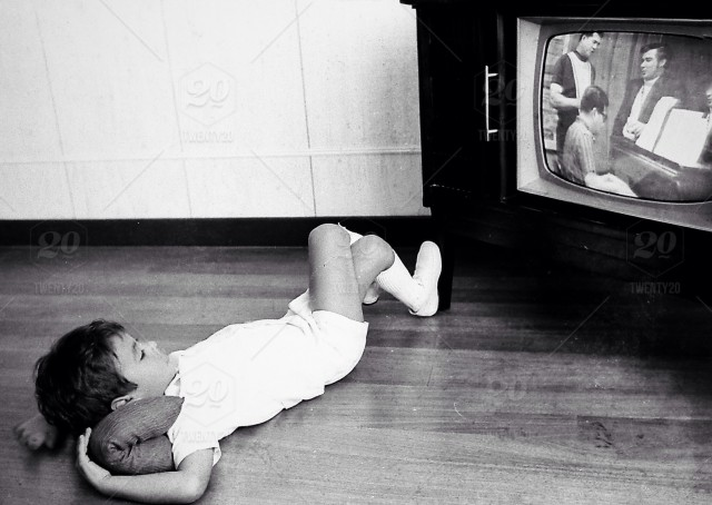 Watching Tv In The Early 70s Stock Photo E86a2e6e 119f 4394 B5f3