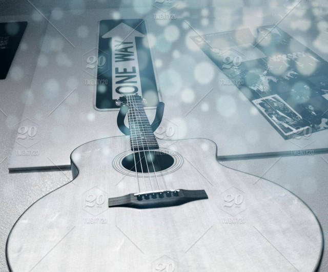 Lens-flare, blue, guitar, lights, closeup, strings, overlay